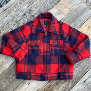 Forever 21 Plaid Cropped Flannel Jacket